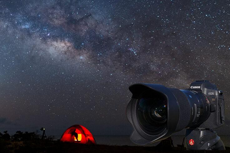 Camera and Milky Way