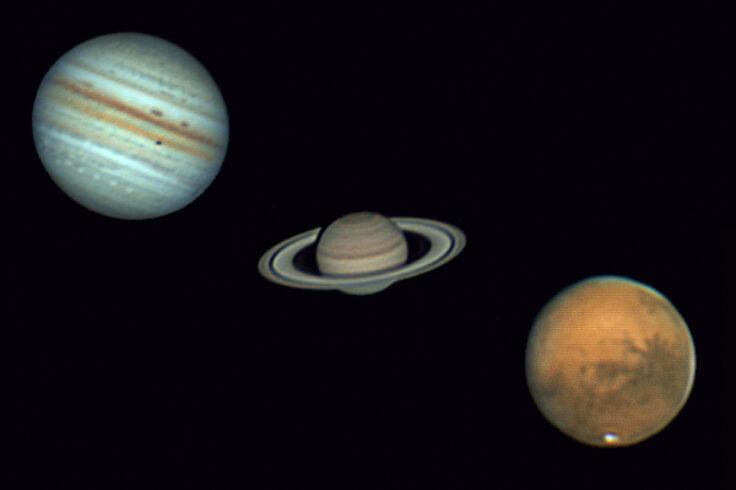 Image of Jupiter, Saturn, and Mars