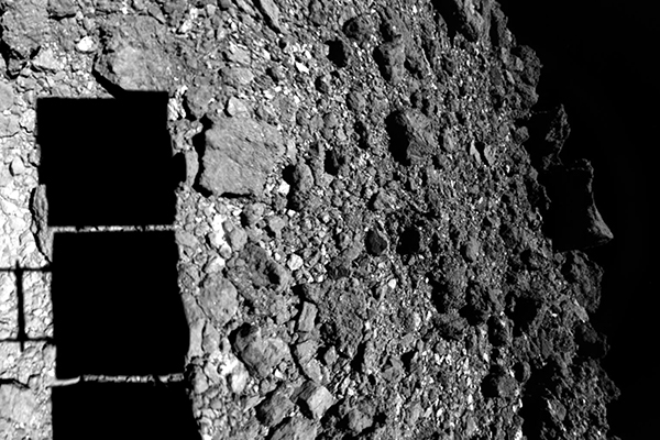 composite image of Ryugu's rubbly surface