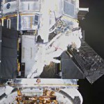 Astronauts Servicing Hubble