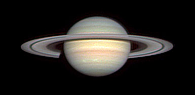 Saturn with white spots