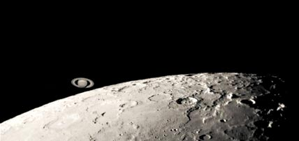 Saturn at the lunar limb