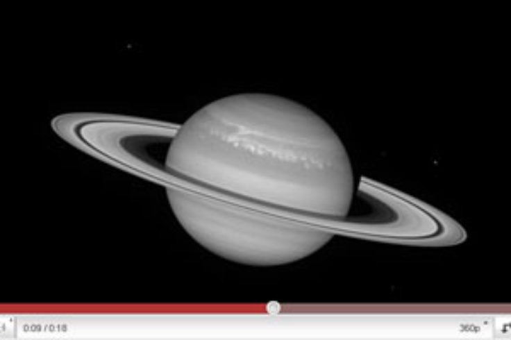 Saturn rotation video