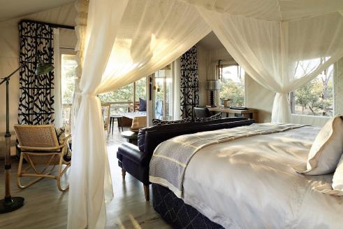 Savute Elephant Lodge tent