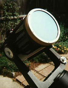 Solar filter on a telescope