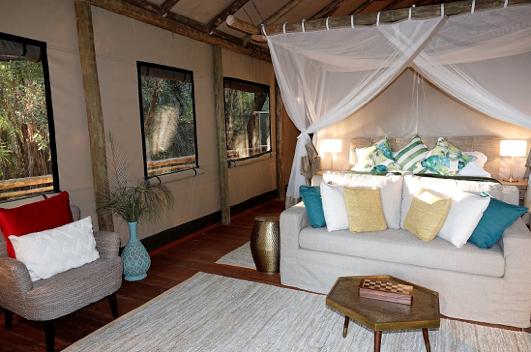 Deluxe tent at Setari Camp