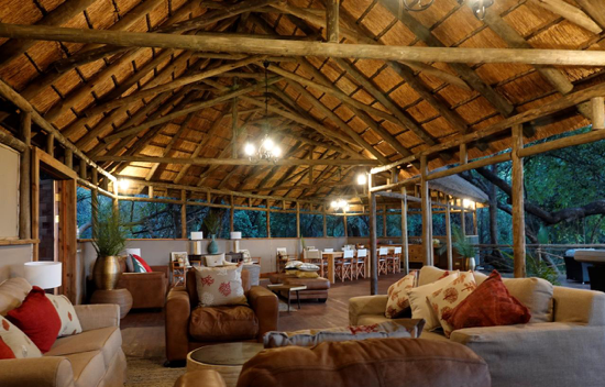 Main lounge area at Setari Camp