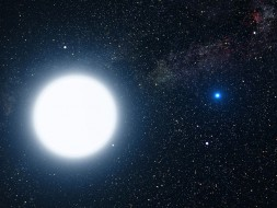 Brightest star, Sirius A, with its companion, Sirius B