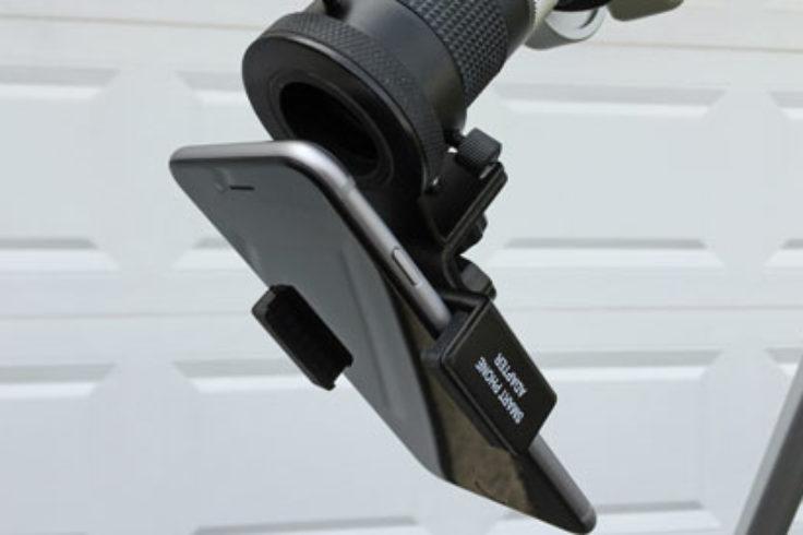 Smartphone-telescope bracket