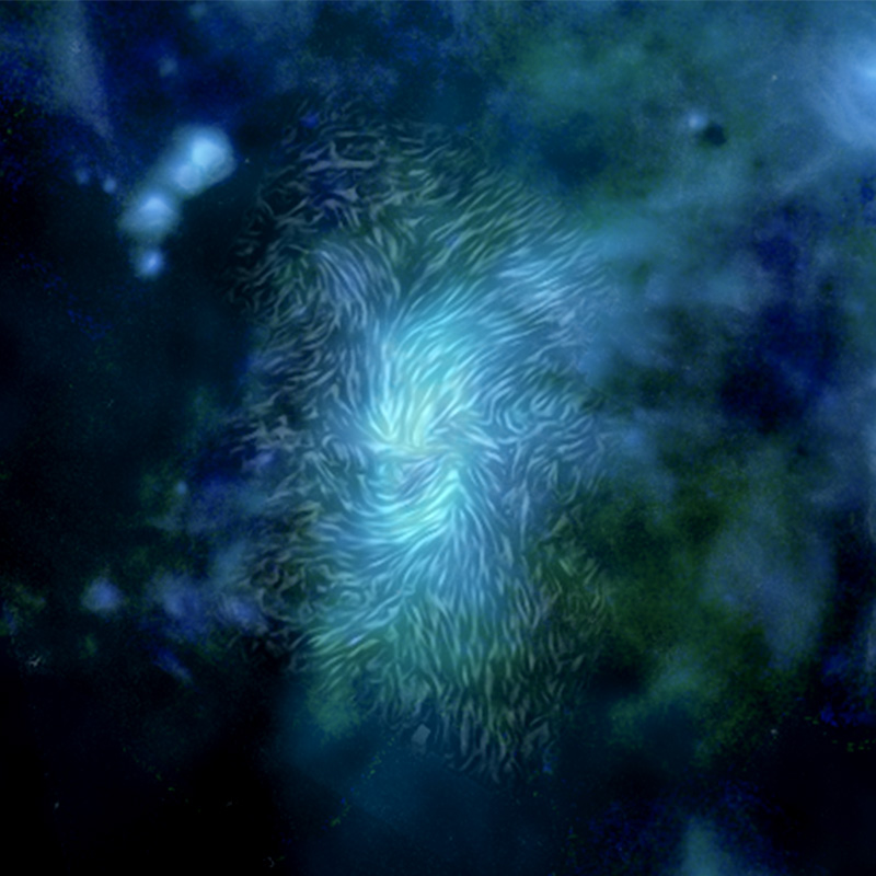 Magnetic field in the galactic center