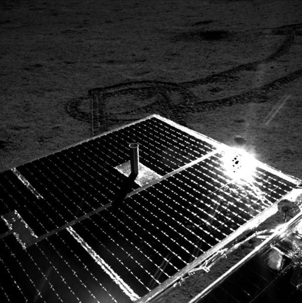 Yutu 2 solar array