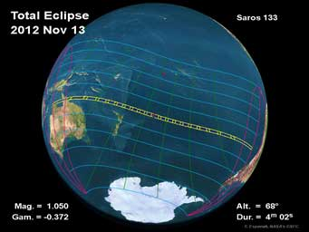 map of November 2012 eclipse