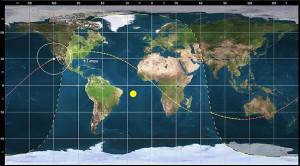 Orbital trace for OTV-4