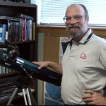 Tony Flanders demonstrates the Orion SpaceProbe 3 Reflector