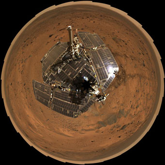 Mars Rover Spirit self-portrait
