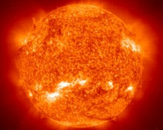 Photo of the Sun.   EIT - SOHO Consortium, ESA, NASA