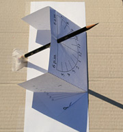 Reading the time from your sundial near a March or September equinox