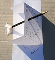 Learn how to make a sundial and read the time from your sundial in summer and winter