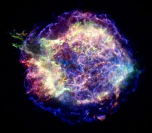 How do stars die? Check out this chandra X-ray photograph of young supernova remnant Cassiopeia A. NASA/CXC/MIT/UMass Amherst/M.D.Stage et al.