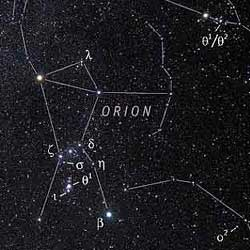 Double stars in and around Orion
