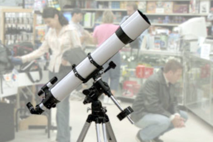 Telescope in a store