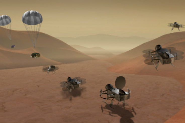 Illustration of proposed Titan lander
