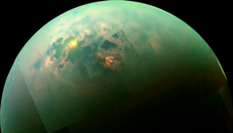 Infrared mosaic of Titan