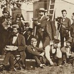 Observers and administrators gather at the US Naval Observatory in Washington, DC, in preparation for the American expeditions to the 1874 transit of Venus.