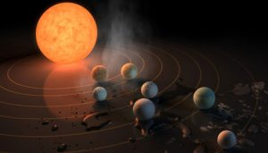artist's concept of TRAPPIST-1 system