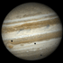 Triple transit across Jupiter