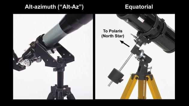 Two types of telescope mounts