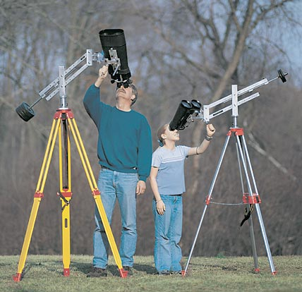 Two parallelogram-style binocular mounts