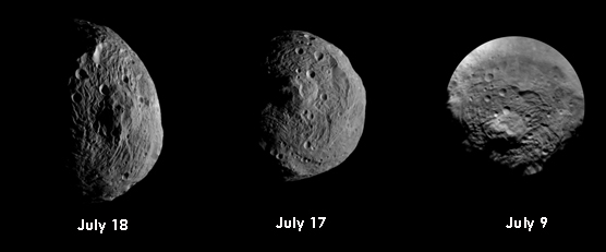 A composite of Vesta images from the Dawn mission
