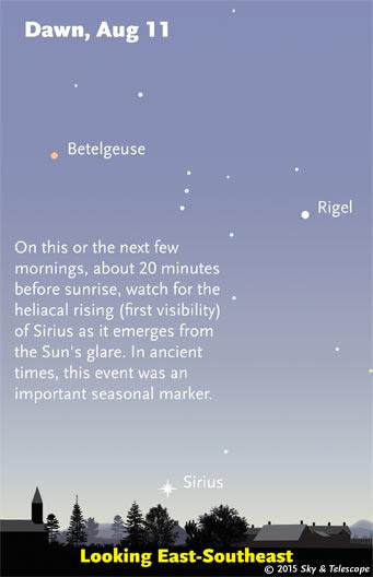 Heliacal rising of Sirius