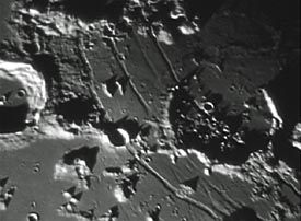 video of lunar craters