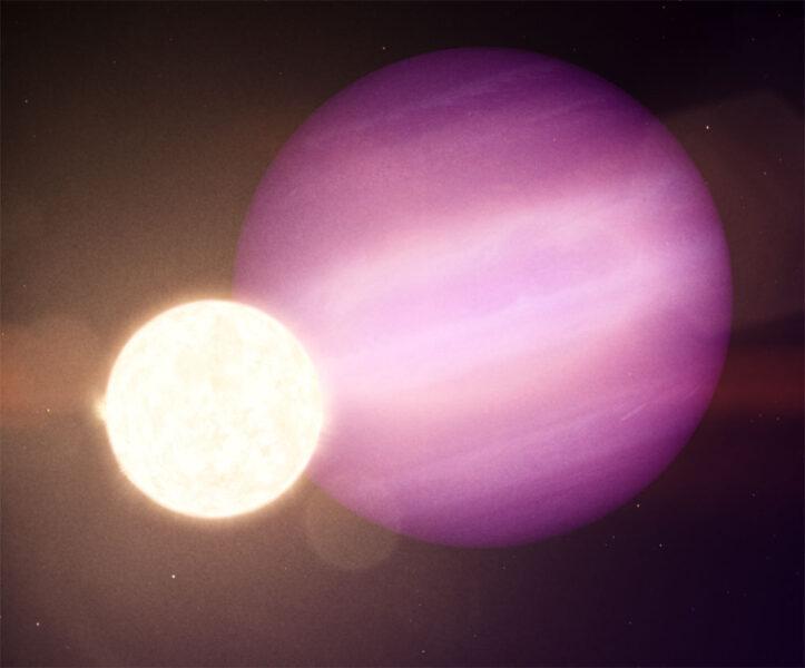 Hot Jupiter around a white dwarf