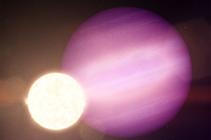 Hot Jupiter around a white dwarf