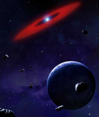 planetary debris around white dwarf