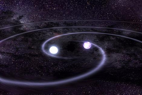 White dwarfs merge as they emit gravitational waves