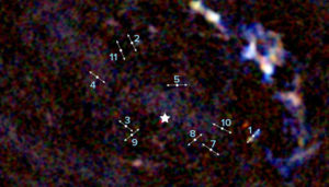 galactic center, outflows marked
